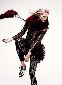 Gilded Half-Garments : Dani by Chris Nicholls for Flare January 2012