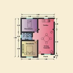 Dormitory, Small House Plans, All Design, Ideas Para, Tiny House, Diagram, Floor Plans, How To Plan, Architecture