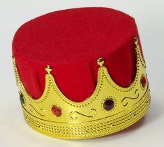 Adult Kings Crown w/ Red Felt Gold King Crown, Kings Crown, Costume Birthday Parties, Tiara Hairstyles, Crystal Crown, Red Felt, Crown Headband, Gold Paper