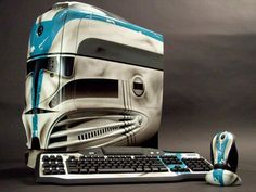 501st Clone Trooper computer, keyboard, and mouse.