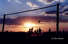 Soccer Sunset in South Africa