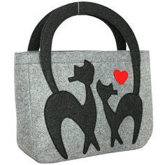 Borsa borsa delle signore borsa casual del feltro di Marywool