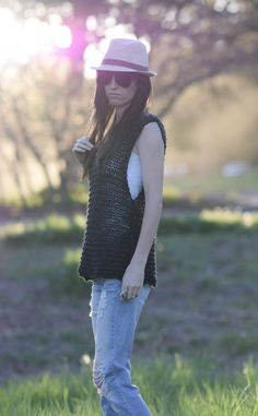"""Easy """"Little Black"""" Tank Top Knitting Pattern – Mama In A Stitch"""