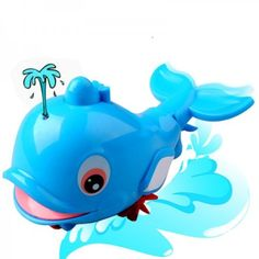 Water Spraying Dolphin Toy with Pull String, Bathing Toy for Baby (Simple package)