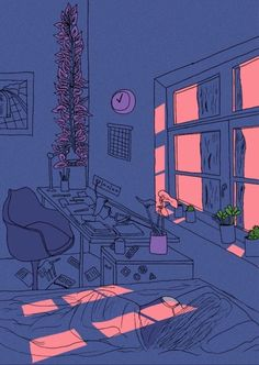 aesthetic drawing alone background drawings backgrounds sad illustration visit october