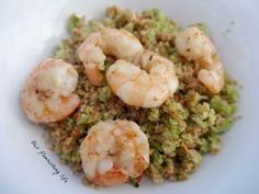 "Garlic Shrimp With Sausage And Broccoli ""Rice"" Recipe Good way to use up left-over broccoli, instead of cooking fresh!"