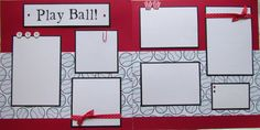 PLAY BALL 12x12 Premade Scrapbook Pages BaSEBaLL by JourneysOfJoy, $12.50