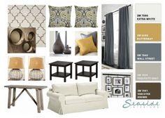 Seaside Interiors: Restoration Hardware and Pottery Barn Room Design Board