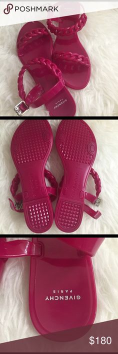 Authentic Givenchy Fushia Jellys Authentic Givenchy Fushia Jellys....Used once. Comes with box. Givenchy Shoes Sandals