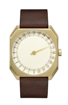 SLOW JO - DARK BROWN VINTAGE LEATHER, GOLD CASE