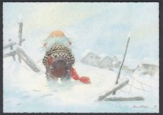 Kjell m. All Things Christmas, Christmas Cards, Xmas, Fairy Land, Fairy Tales, Baumgarten, Nordic Art, World Of Fantasy, Faeries