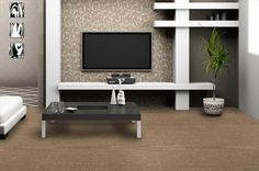 BuildDirect – Modular Carpet Tile – Caffe Latte iTile - Living Room View