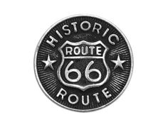 4 Route 66 3/4 inch ( 20 mm ) Metal Buttons