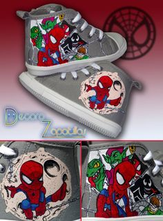 Little Spiderman Shoes by Raw-J on deviantART