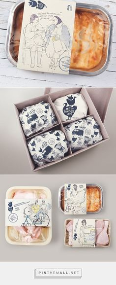 #packaging Milk & Honey Land. take-away food package