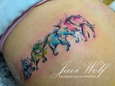 Portafolio - Javi Wolf Link through to Javi Wolf's portfolio page. I quite like his watercolour style Sibling Tattoos, Baby Tattoos, Tattoos For Kids, Family Tattoos, Tattoos For Daughters, Wolf Tattoos, Trendy Tattoos, Cute Tattoos, Beautiful Tattoos