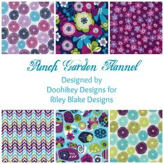 Punch Garden Flannel Designed by Doohikey Designs for Riley Blake Designs