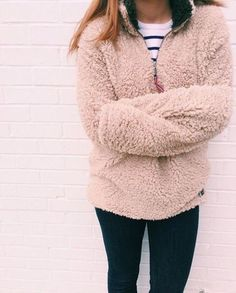 True Grit Sherpa Pull Over Sweatshirt | Obsessed with these for winter!