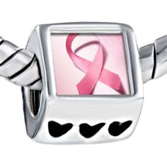 Pugster Simple Pink Ribbon Breast Cancer Awareness Photo Bead Heart Beads Fits Pandora Charm Bracelet Pugster. $12.49. Metal: Metal. Weight (gram): 4.20. Size (mm): 7.60*9.10*10.10. Color: Pink
