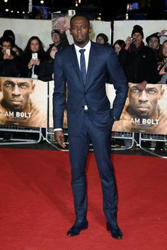 Usain Bolt at the world premiere of his film 'I Am Bolt' in London