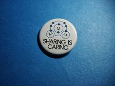 Covalent Bond SHARING IS CARING Science Pinback by Vickinator