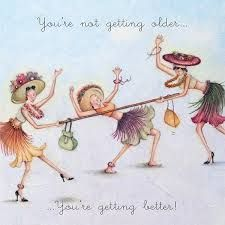 You're not getting older , Ladies Who Love Life ... Berni Parker funny cute berni parker art