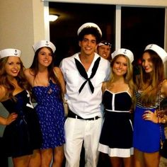 8. Sailor Girl easy costume halloween. just buy hat and wear a nautical dress or a navy blue dress or whatever