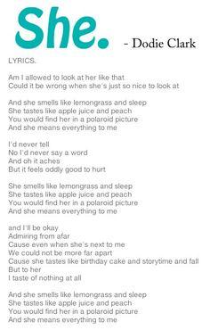 She. by Dodie Clark #song #lyrics