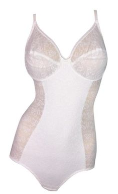 ee5db123ae Vintage 1980's Christian Dior Sheer White Logo Monogram Bodysuit Lingerie