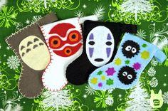 Studio Ghibli Mini Stocking Ornaments (Tutorial) by studioofmm on DeviantArt