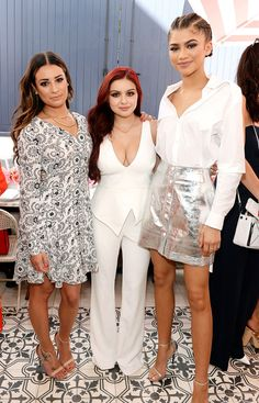 Lea Michele, Ariel Winter & Zendaya from The Big Picture: Today's Hot Pics The brunette bombshells steal the spotlight during Glamour's Game Changers Lunch in West Hollywood.