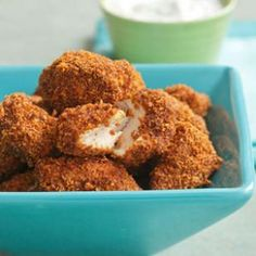 Popcorn chicken we can get behind! Spicy pecan popcorn #chicken from @EatingWell