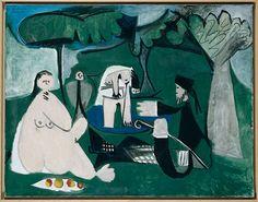 Picasso, Le Déjeuner sur L'Herbe after Manet