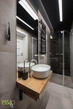 #smallbathroomblack #małałazienka #essa#smallbathroom#architektwnętrz Small Bathroom, Bathroom Lighting, Mirror, Furniture, Ideas, Home Decor, Home, Small Shower Room, Bathroom Light Fittings
