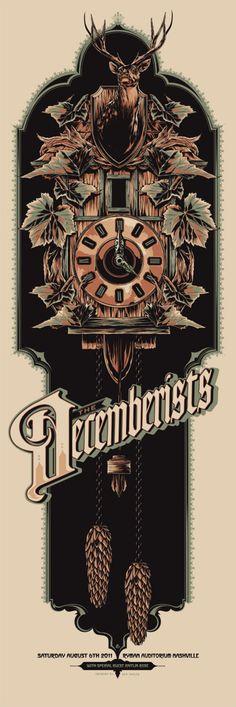 Decemberists gig poster #concertposter #decemberists