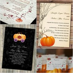 Halloween Inspired Wedding Invitations for Autumn Weddings