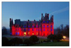 #Bretagne #Finistere © Paul Kerrien  http://toilapol.net #Trevarez : rouge