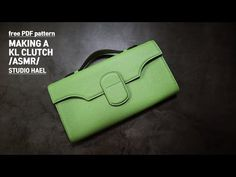 Bags Sewing, Leather Crafts, Pattern Making, Leather Bag, Tube, Couture, Wallet, How To Make, Leather Tote Handbags