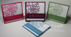 Regarding Dahlias  & Sweet Essentials stamp sets makes a sweet Thank you note  for August 2013