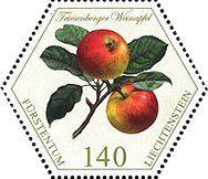 Stamp: Apples (Liechtenstein) (Old Fruit Varieties) Mi:LI 1765,Sn:LI 1772,Yt:LI 1705,Zum:LI 1716