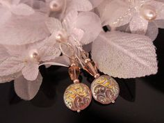 Peachy Pink Czech Glass and Swarovski Crystal by IBKcreations, $16.95