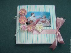 Купить или заказать Фотоальбом с ангелочками и цветами. шебби-шик в интернет-магазине на Ярмарке Мастеров. Однажды, гуляя по комнатам…