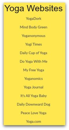 Great info to have when the mood to move strikes! I like having home options for Yoga!