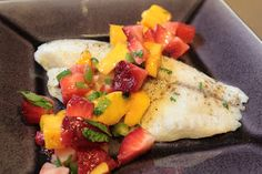 Simply Whole Kitchen: Baked White Fish with Fruit Salsa