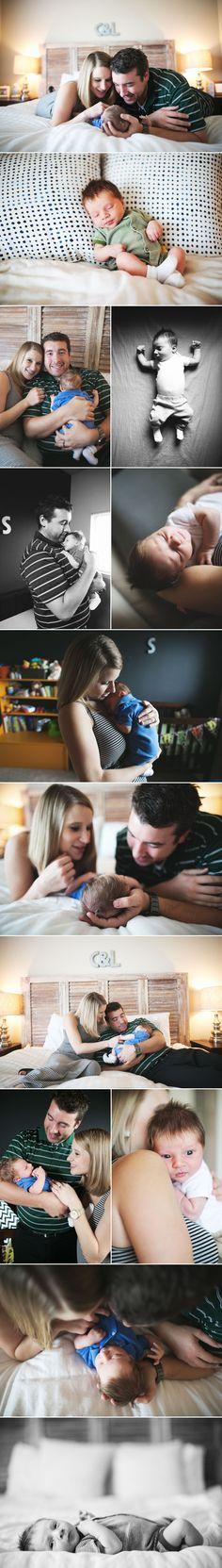 Cute newborn session at home