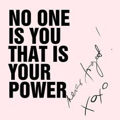 No one is you ❤️ #dailyquote #illustration #quotes #motivation #xoxo