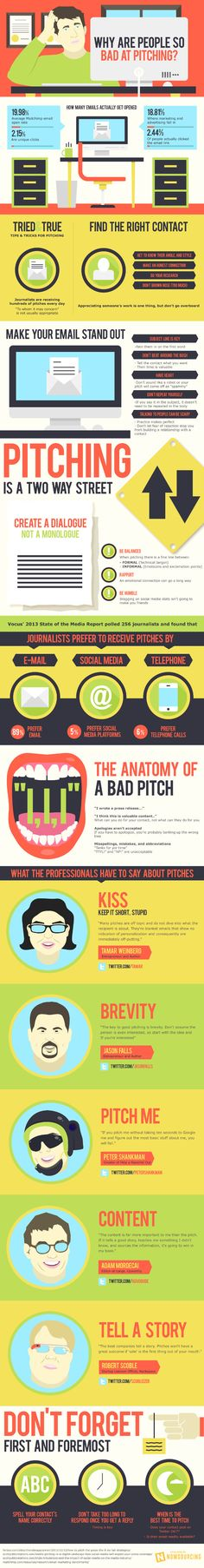 What makes bad pitches so unappealing | from PR Daily - brilliant infographic on pitching media. Public relations magic.