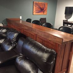 Bar Behind A Couch