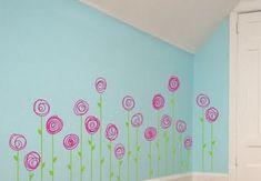 Flower Wall Decals Design for Girl Bedroom Girls Room Flower Wall Decals Design Inspirations – GO WALLPAPER