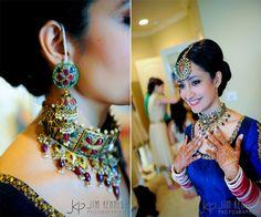 Fabulous Indian Wedding Jewelry set. This Tikka is amazing!